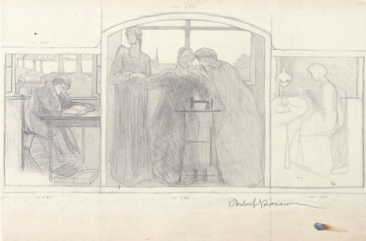Umberto Boccioni - Study for 'Homage to Mother'