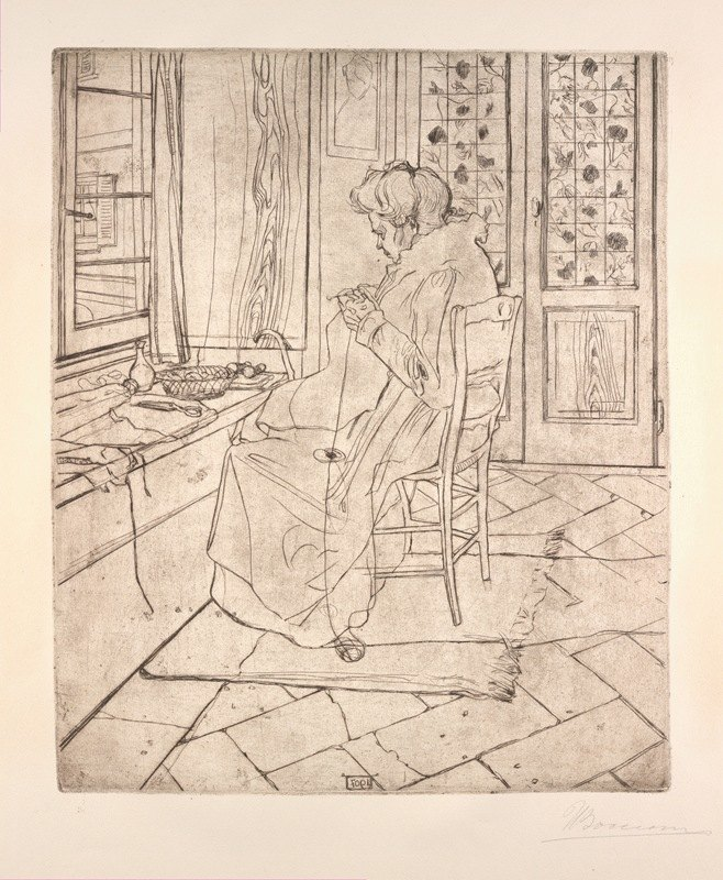 Umberto Boccioni - The Artist's Mother Crocheting
