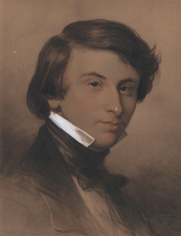 Achille Devéria - Portrait of Alfred-Victor, Comte de Vigny (1797‒1863)