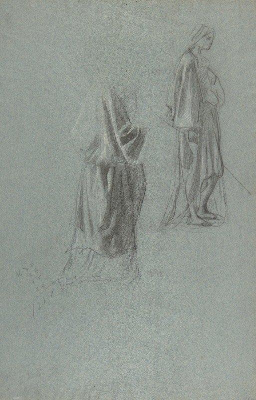 Anselm Feuerbach - Drapery Studies