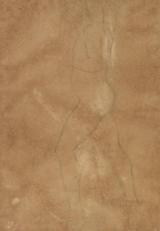 Anselm Feuerbach - Male Nude Walking