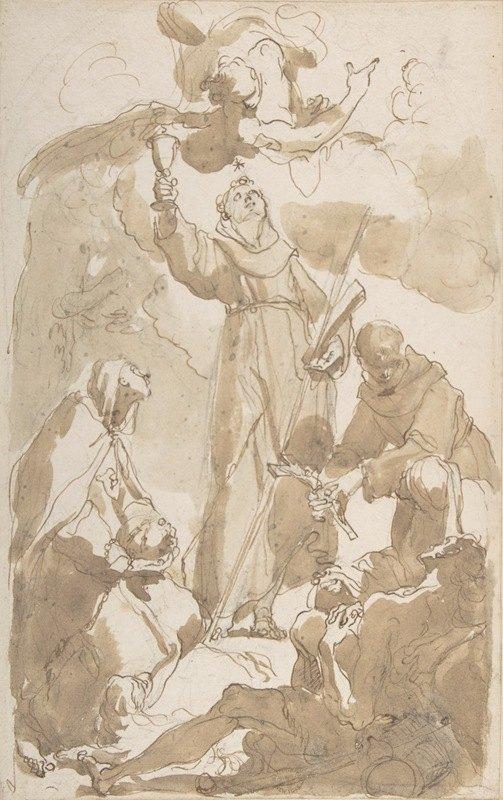 Gaetano Gandolfi - Saint Margaret of Cortona, Saint James of the March, and Saint Didacus