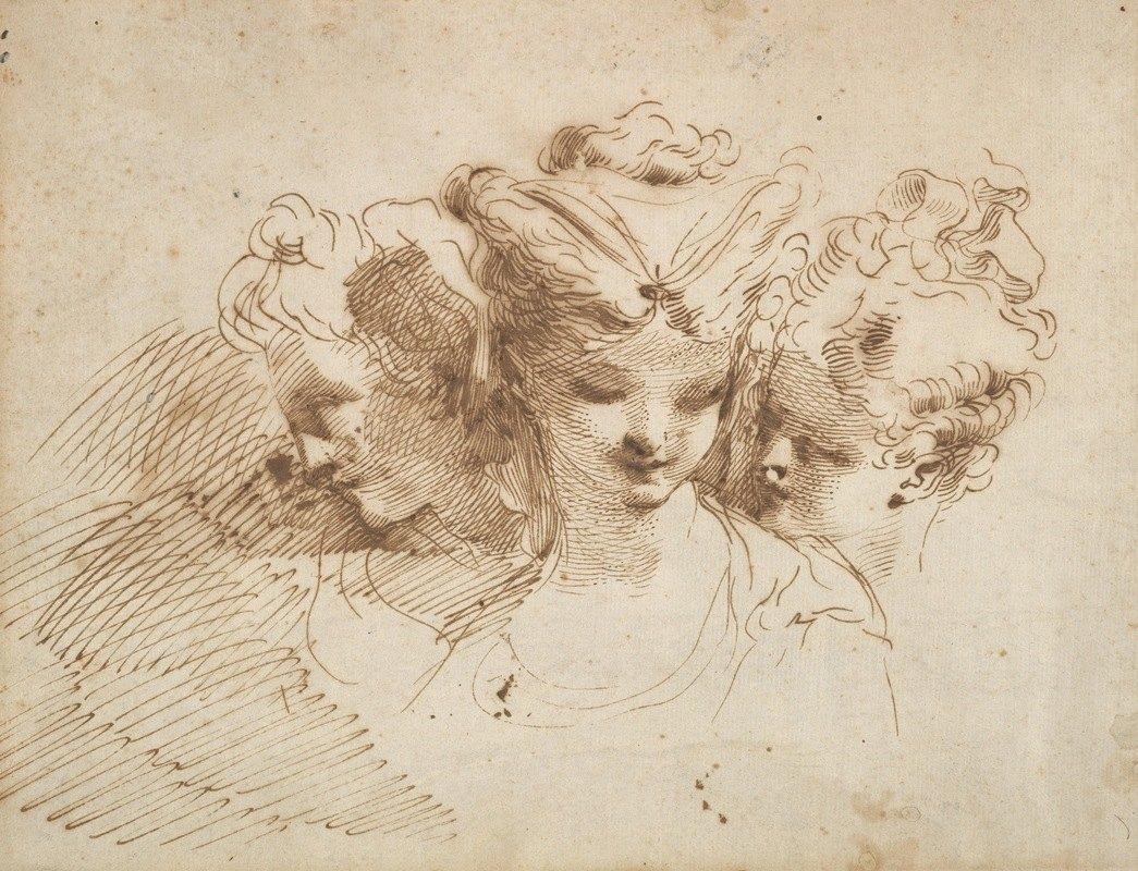 Gaetano Gandolfi - Three Female Heads