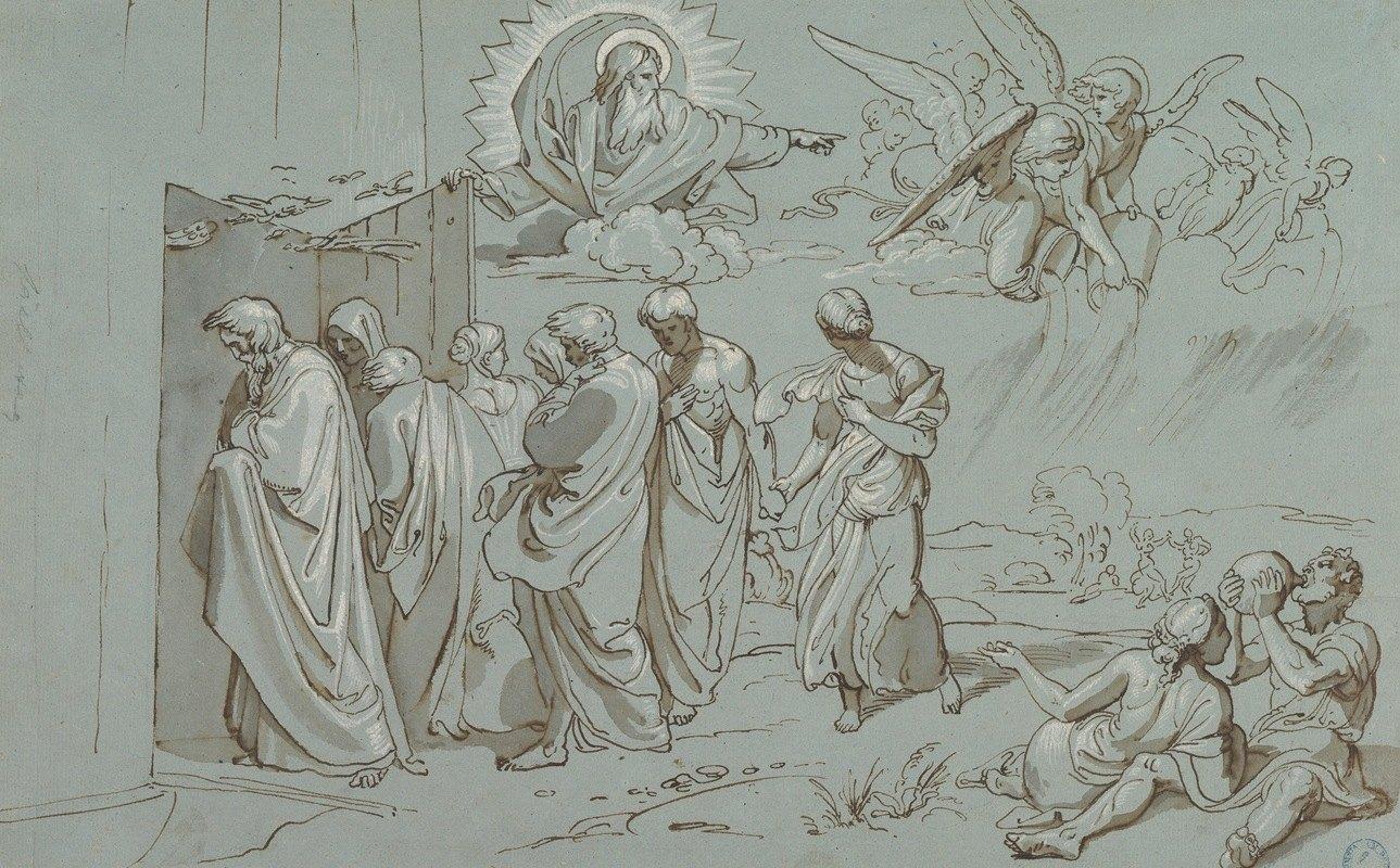 Joseph von Führich - God Summons Noah and His Family into the Ark