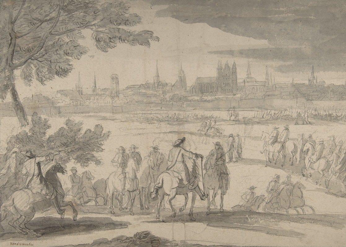 Adam Frans van der Meulen - Louis XIV at the Siege of Tournai, Seen from the North-East (June 21-25, 1667)