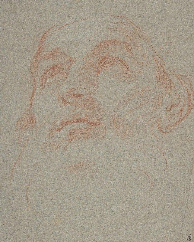 Carlo Maratti - Head of a Bearded Man Looking to Upper Left (Saint Ambrose)
