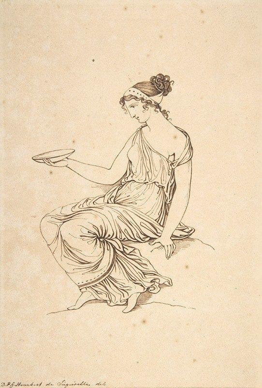 David-Pierre Giottino Humbert de Superville - A Seated Woman in Profile