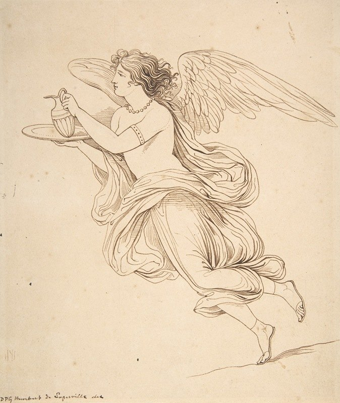 David-Pierre Giottino Humbert de Superville - An Angel Holding a Carafe on a Plate