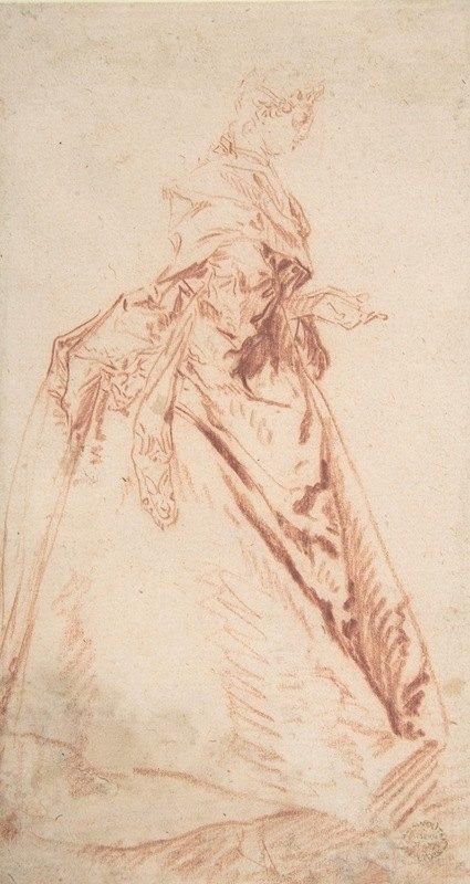 Nicolas Lancret - Standing Woman Facing Right