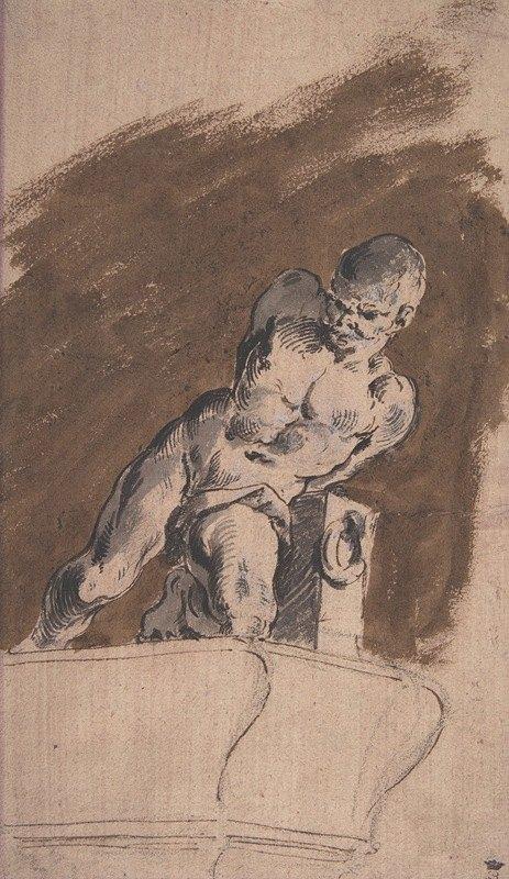 Pietro Antonio Novelli - Chained Nude Prisoner, after Pietro Tacca
