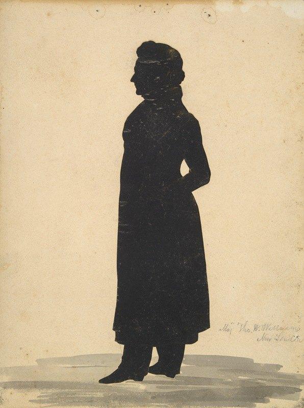 Auguste Edouart - Silhouette of Major Thomas WheelerWilliams