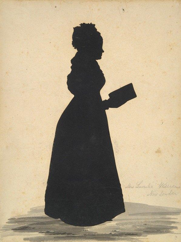 Augustin Amant Constant Fidele Edouart - Silhouette of Mrs. Thomas Wheeler Williams, Lucretia Woodbridge Perkins, 1796-1829