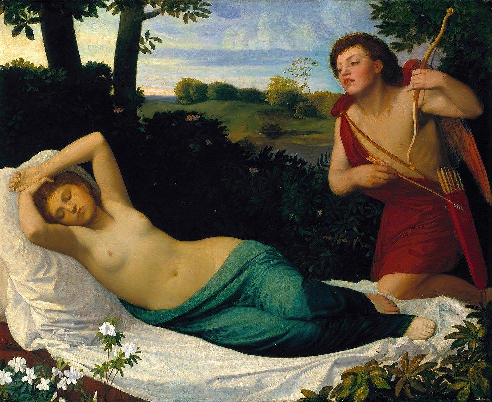 Alphonse Legros - Cupid and Psyche