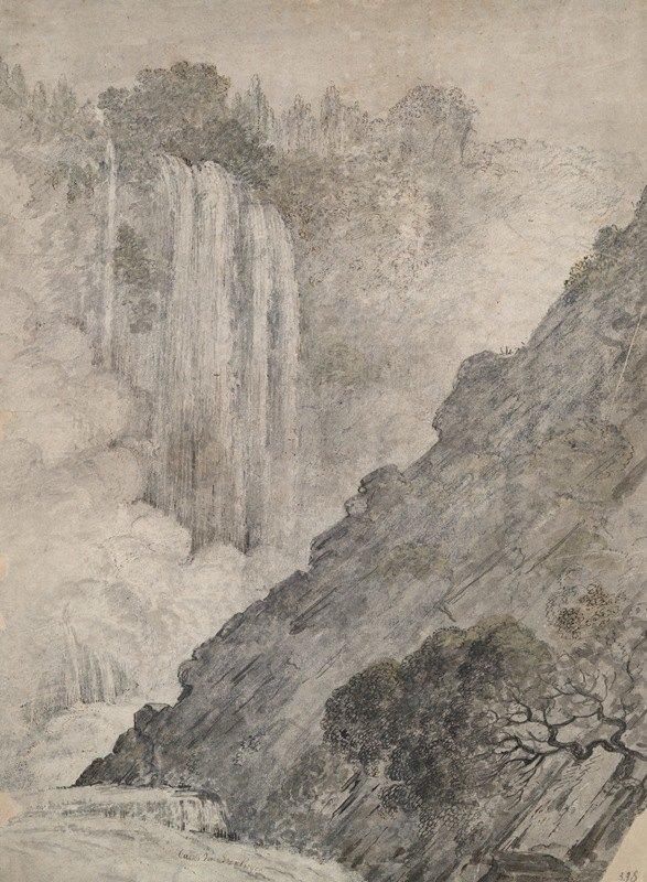 Caesar Van Everdingen - Mountainous Landscape withWaterfalls