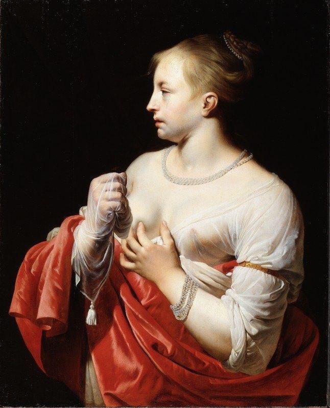 Caesar Van Everdingen - Female Figure, Possibly Lucretia