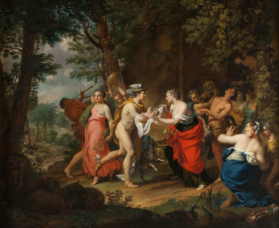 Carl Marcus Tuscher - Mercury Confiding the Child Bacchus to the Nymphs on Nysa