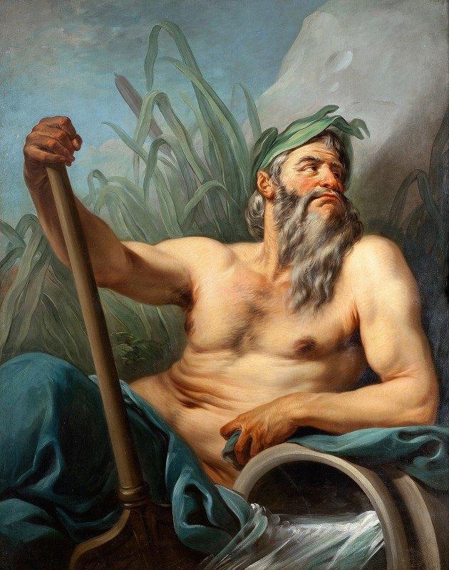 Charles-André van Loo - River God
