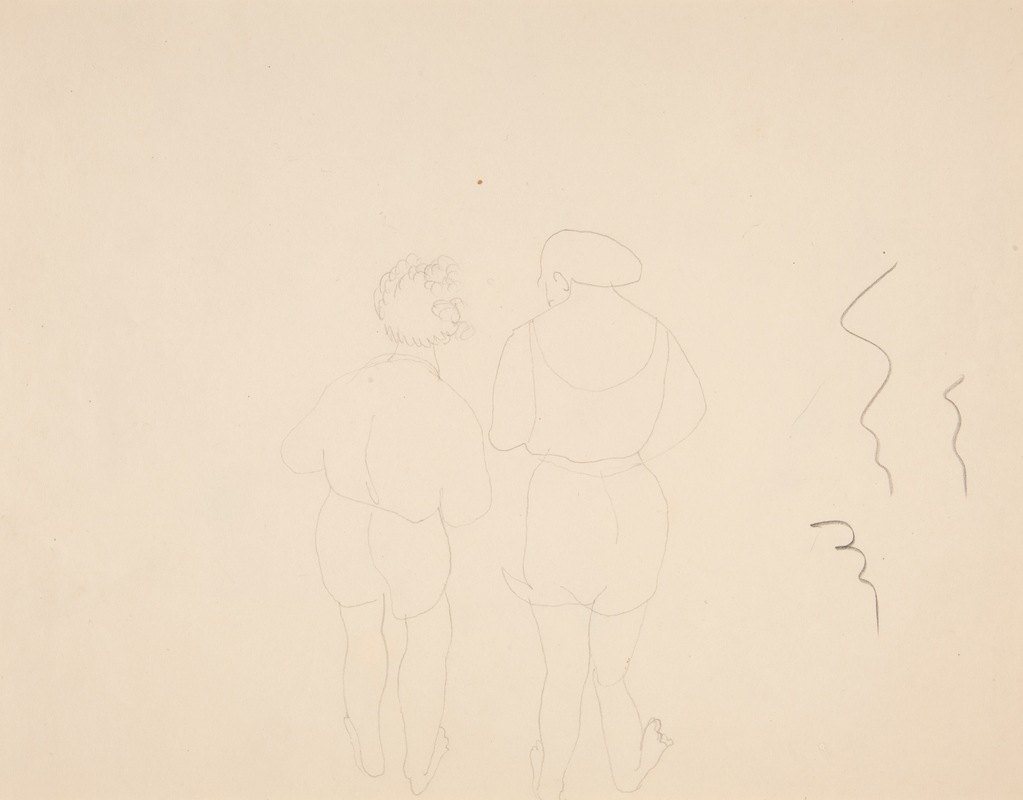 Charles Demuth - Two Woman Bathers Seen fromBehind