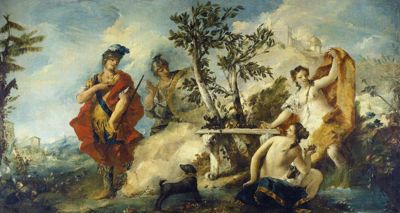 Giovanni Antonio Guardi - Carlo and Ubaldo Resisting The Enchantments of Armida's Nymphs