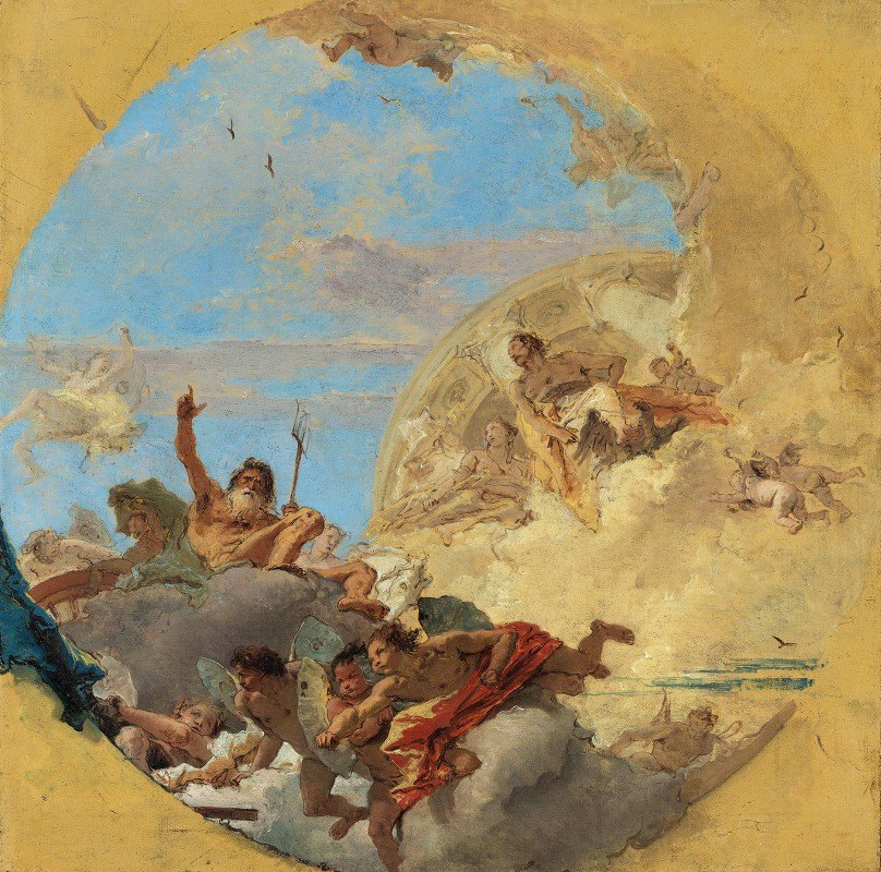 Giovanni Battista Tiepolo - Neptune and The Winds