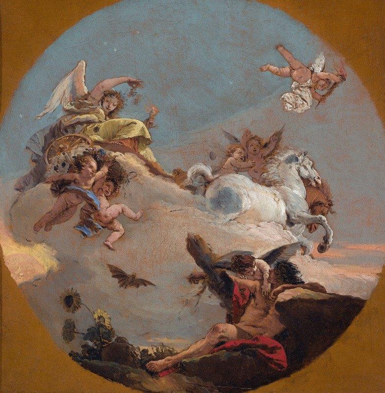 Giovanni Battista Tiepolo - The Chariot of Aurora