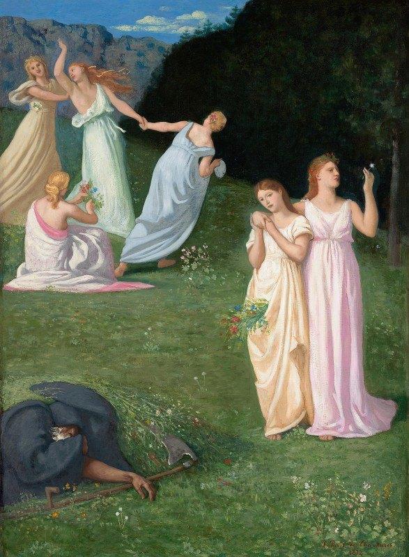 Pierre Puvis de Chavannes - Death and The Maidens