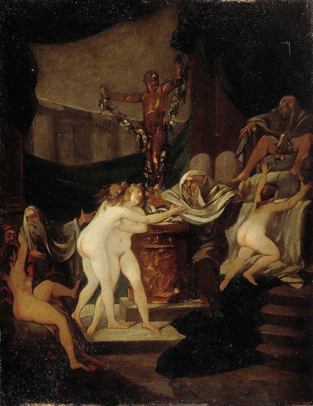 Alexandre Evariste Fragonard - The Feast Of Bacchus