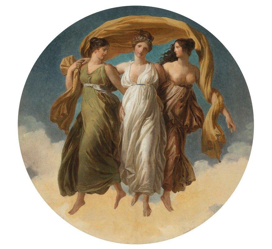 Alexandre Evariste Fragonard - The Three Graces