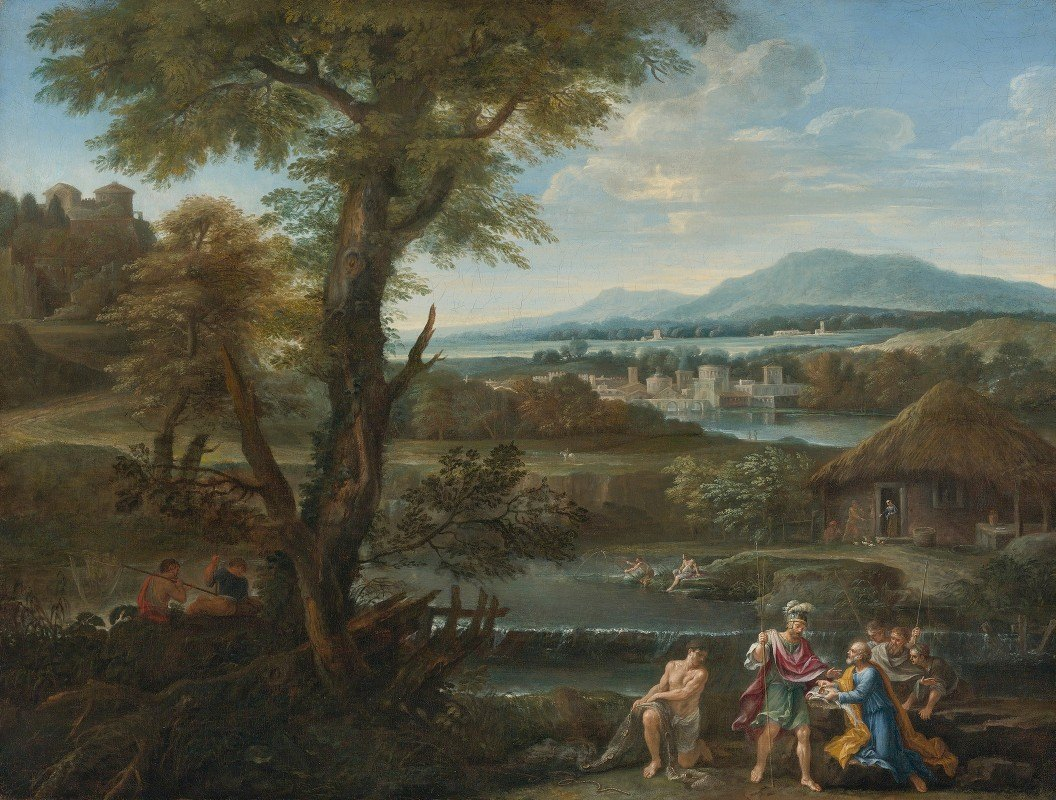 Roman School - Polycrates Finding His Ring In The Fish