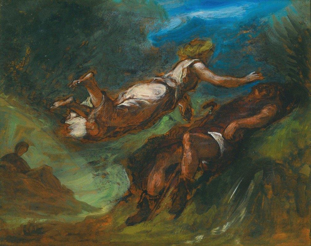 Eugène Delacroix - Hésiode Et La Muse