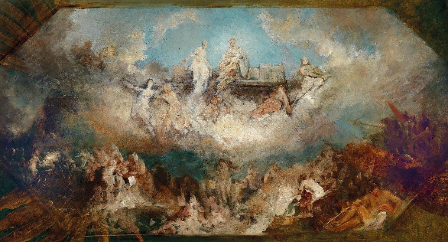 Hans Makart - Die Versenkung Des Nibelungenhortes In Den Rhein
