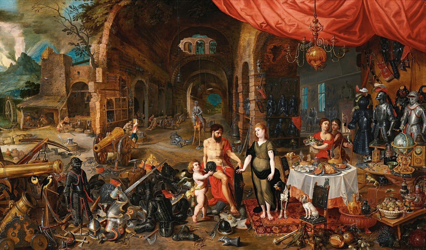 Jan Brueghel the Younger - Venus At The Forge Of Vulcan