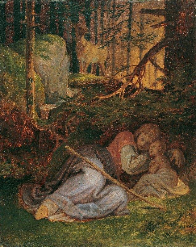 Joseph von Führich - Genoveva's Rest In The Forest