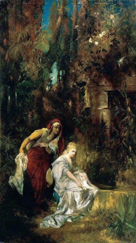 Hans Makart - Snow White Receives The Poisoned Comb