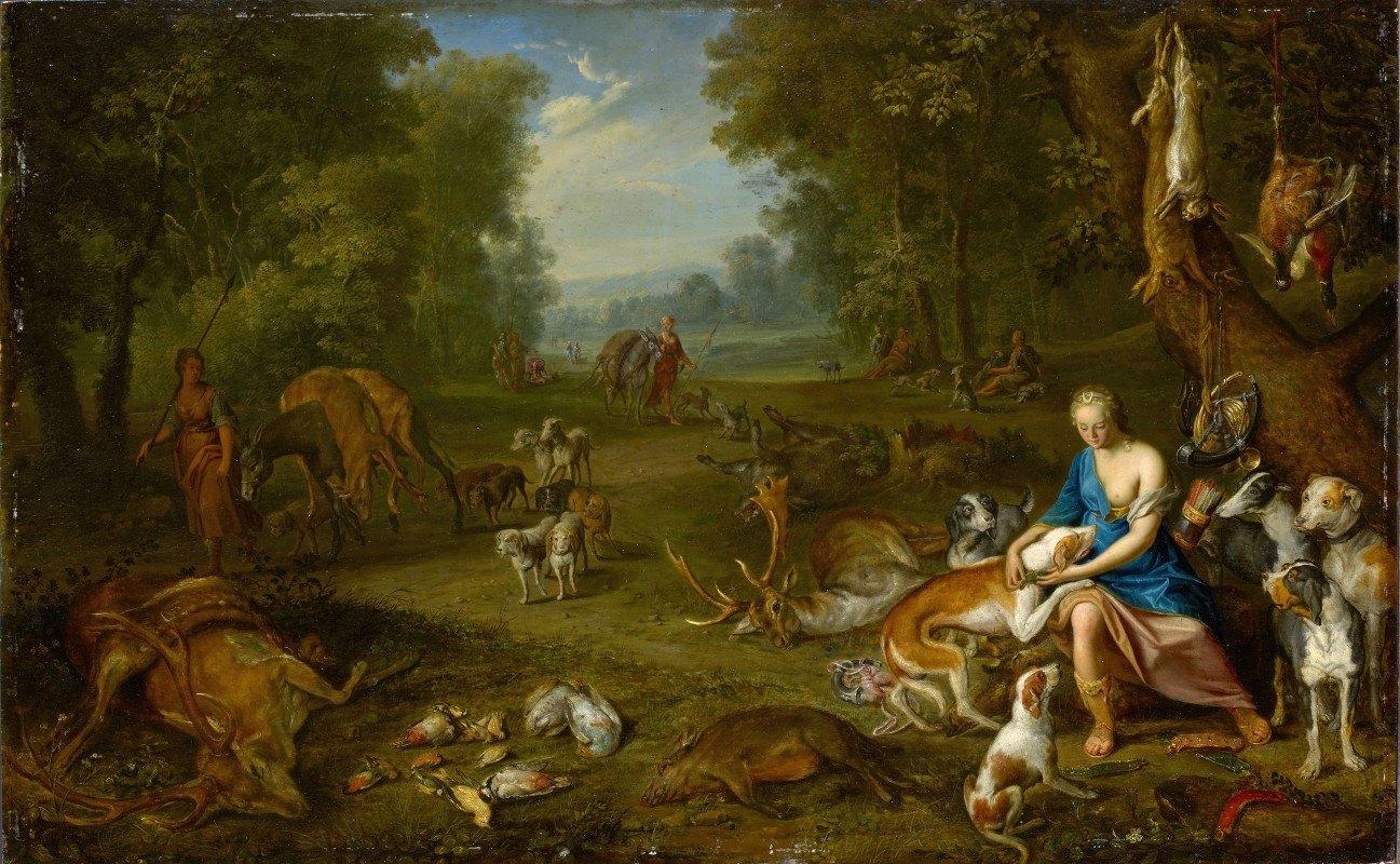 Hendrik van Balen - Landscape with Diana and her Bag