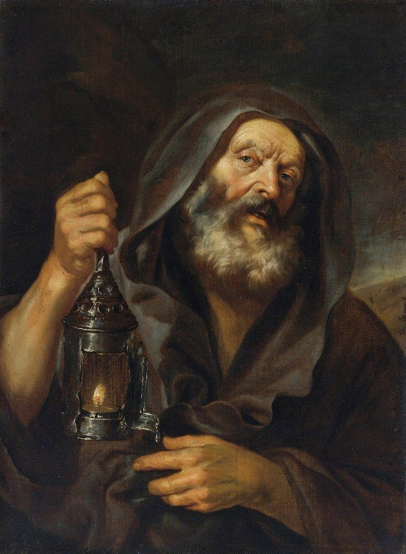 Mattia Preti - Diogenes With His Lantern, In Search Of An Honest Man