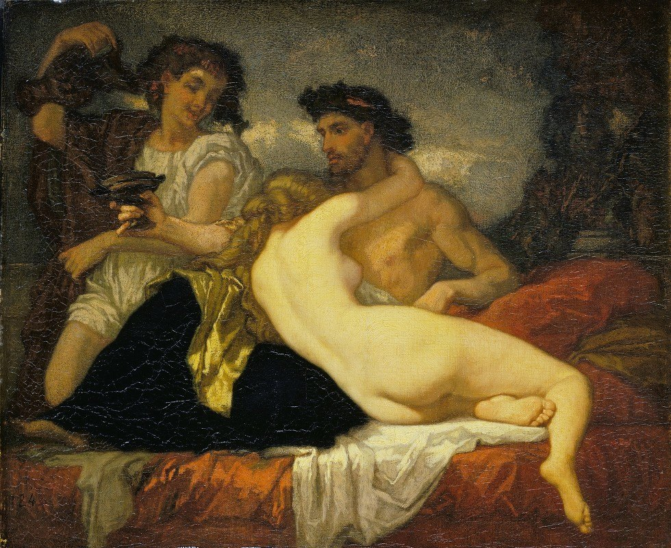 Thomas Couture - Horace and Lydia