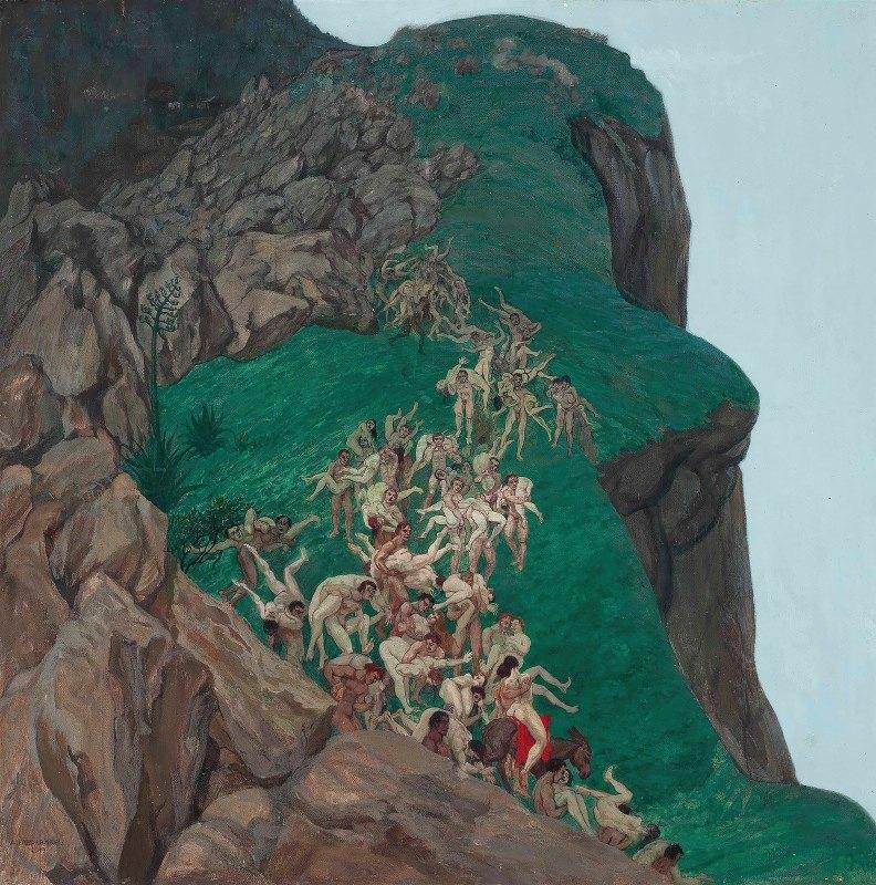 Alfred Basel - The rape of the Sabine women