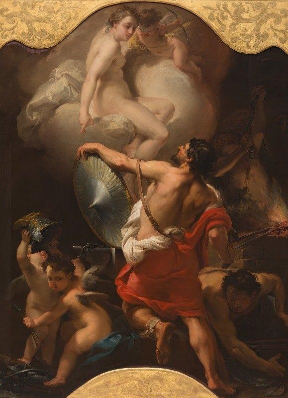 Gaetano Gandolfi - Venus Ordering Armor for Aeneas at Vulcan's Forge
