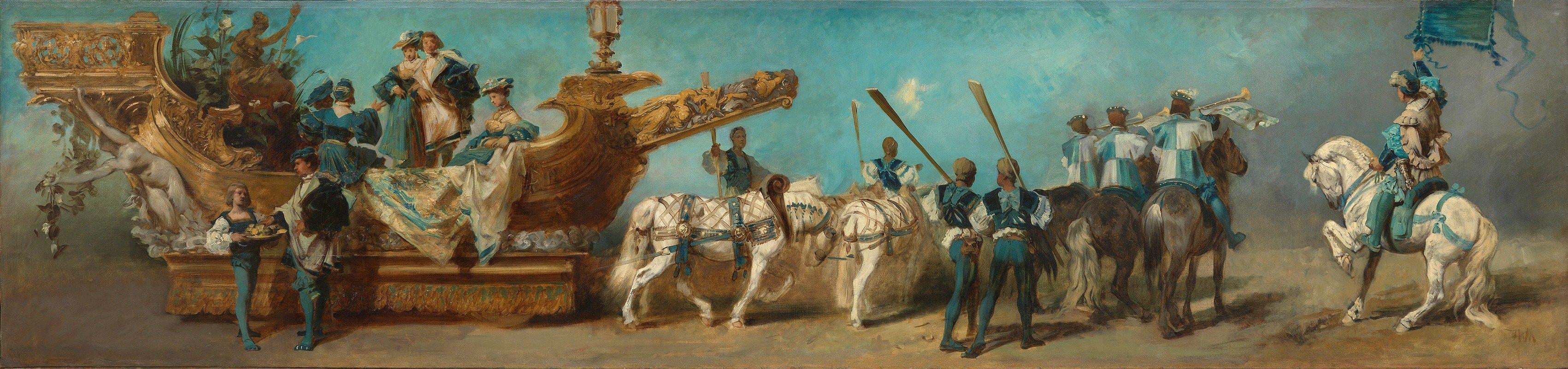 Hans Makart - Entwurf zum Festzug 1879 – Die Donaudampfschifffahrtsgesellschaft