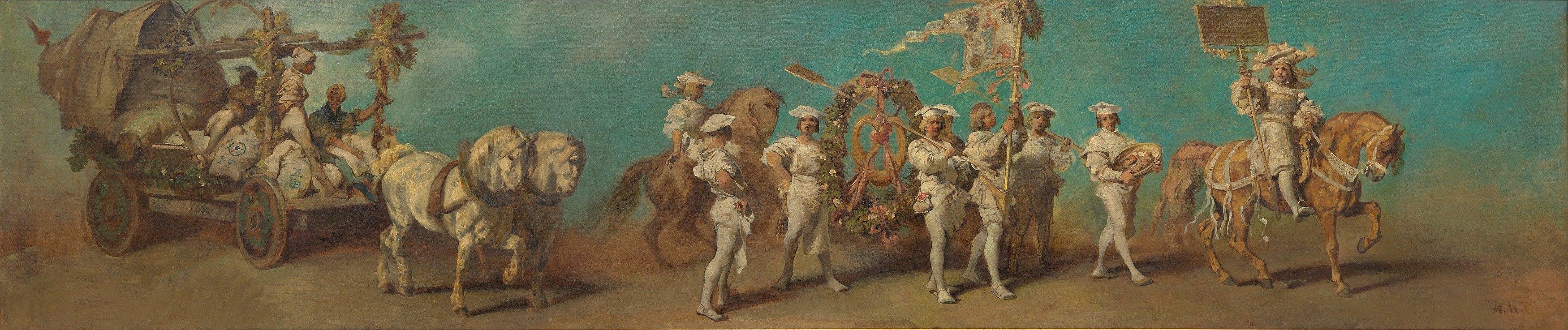 Hans Makart - Entwurf zum Festzug 1879 – Die Müller und Bäcker