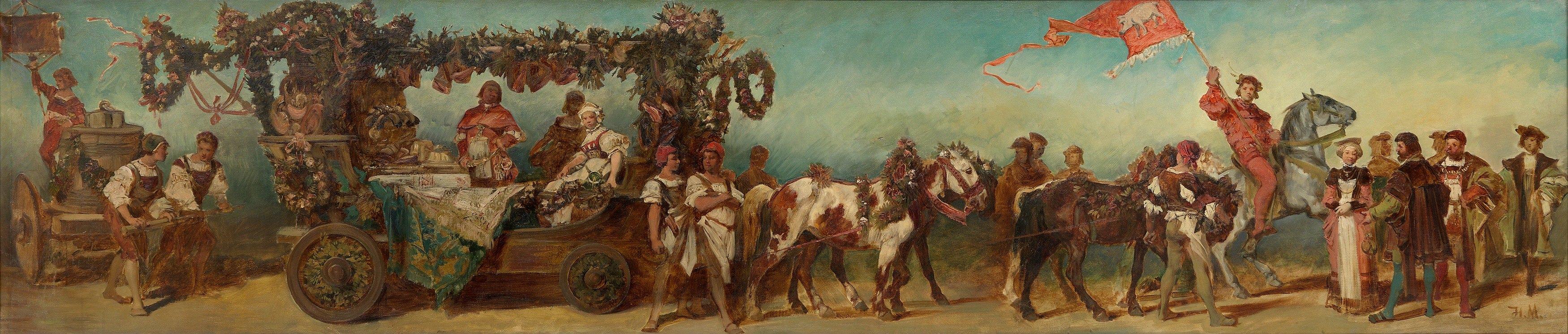 Hans Makart - Entwurf zum Festzug 1879 – Die Fleischselcher