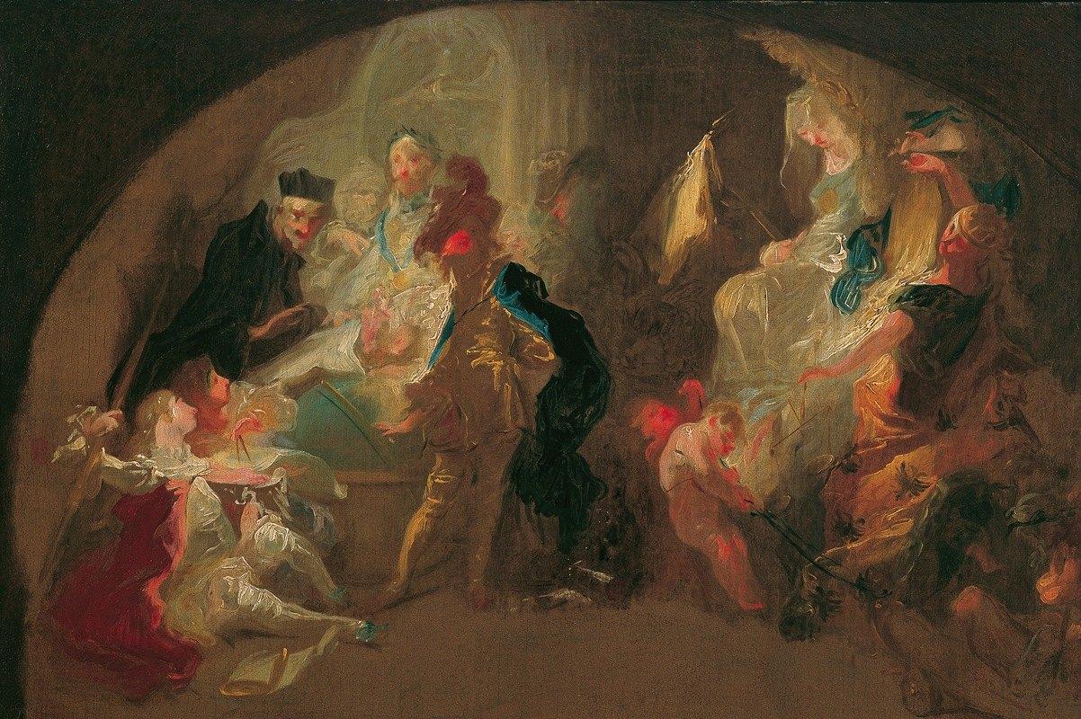 Franz Anton Maulbertsch - Allegorie auf die Erziehung eines Kavaliers