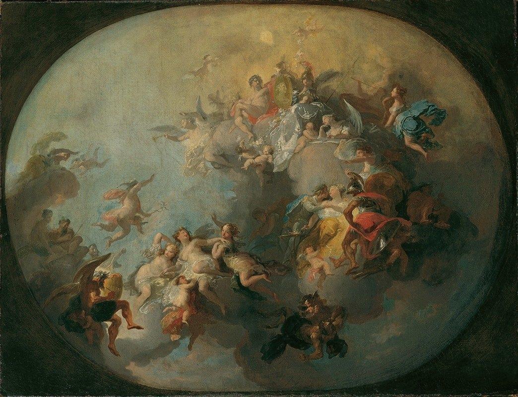 Franz Anton Maulbertsch - Allegorie auf eine fürstliche Vermählung
