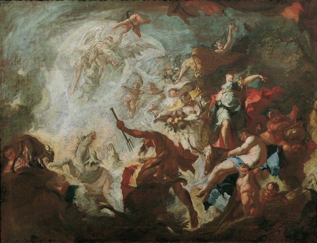 Franz Anton Maulbertsch - Allegorie des Goldenen Zeitalters