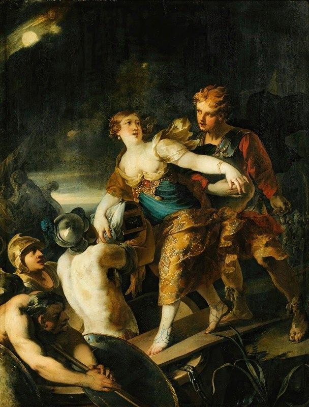 Isaac Moillon - The rape of helen