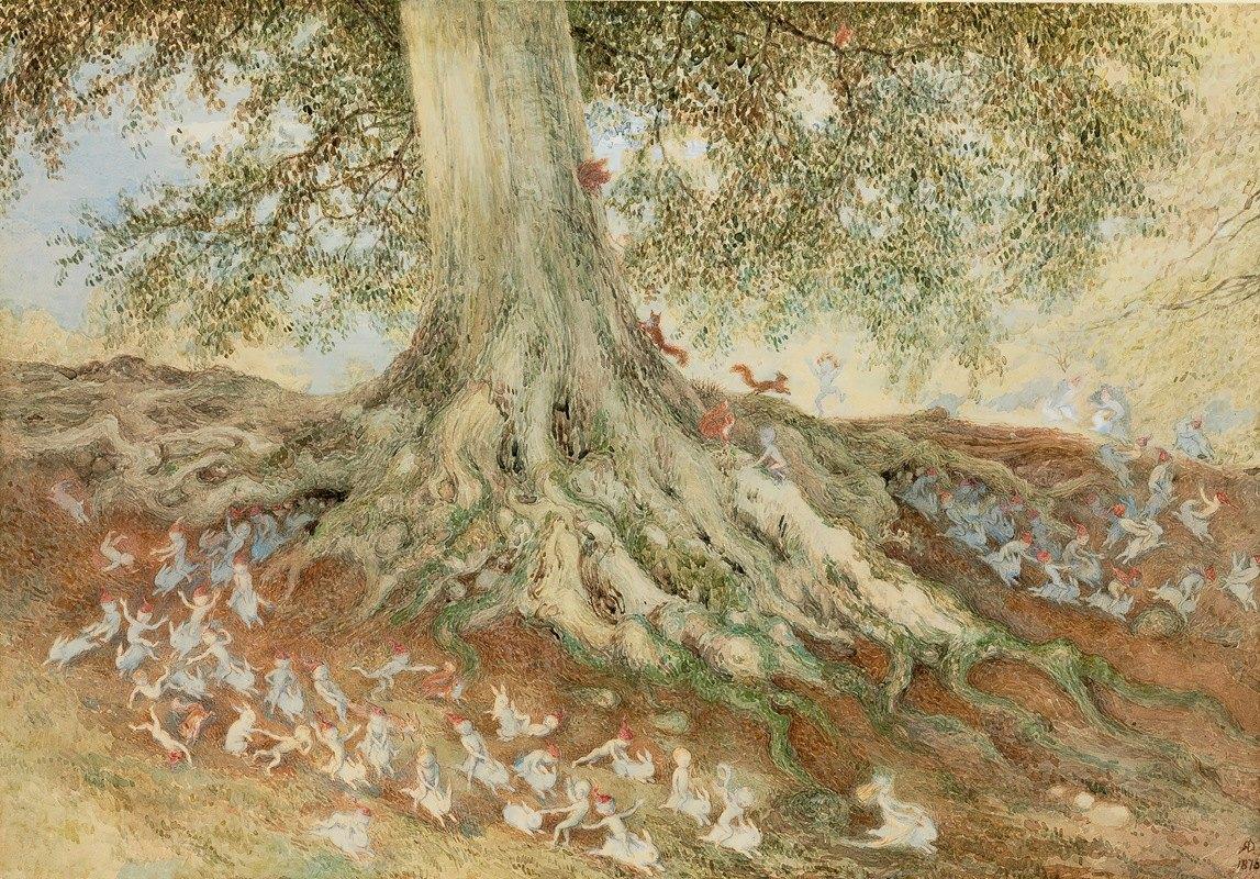 Richard Doyle - Elves in a Rabbit Warren
