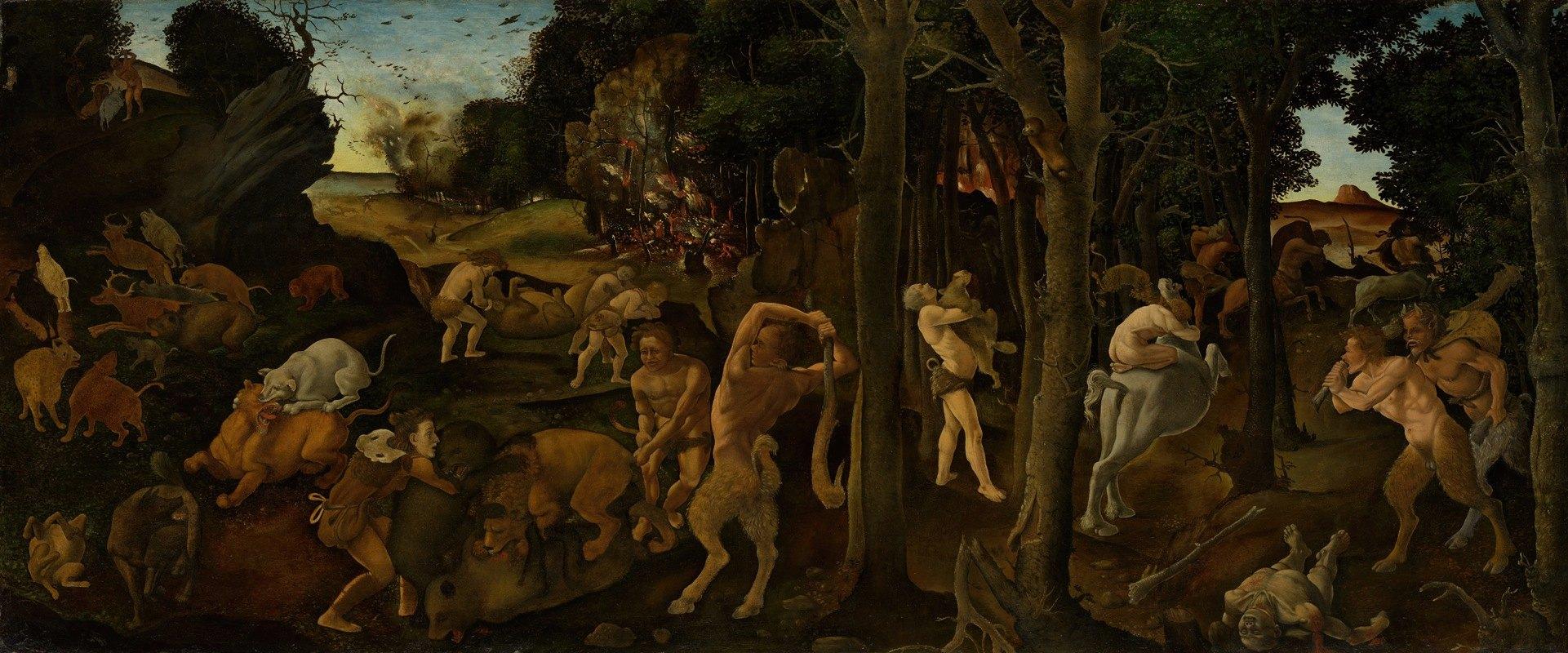 Piero di Cosimo - A Hunting Scene