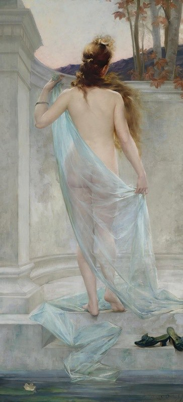 Guillaume Dubufe - Diana Leaving Her Bath