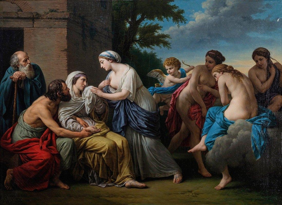 Louis-Jean-François Lagrenée - L'Amitié consolant la Vieillesse de la perte de la beauté et du départ des plaisirs